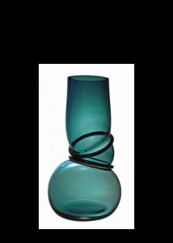 Double Ring Vase Petrol